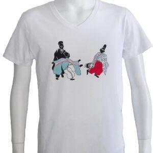 「和xクール」デザインのTシャツ 蹴球、蹴鞠
