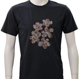 floral – ネイビー クルーネックTシャツ